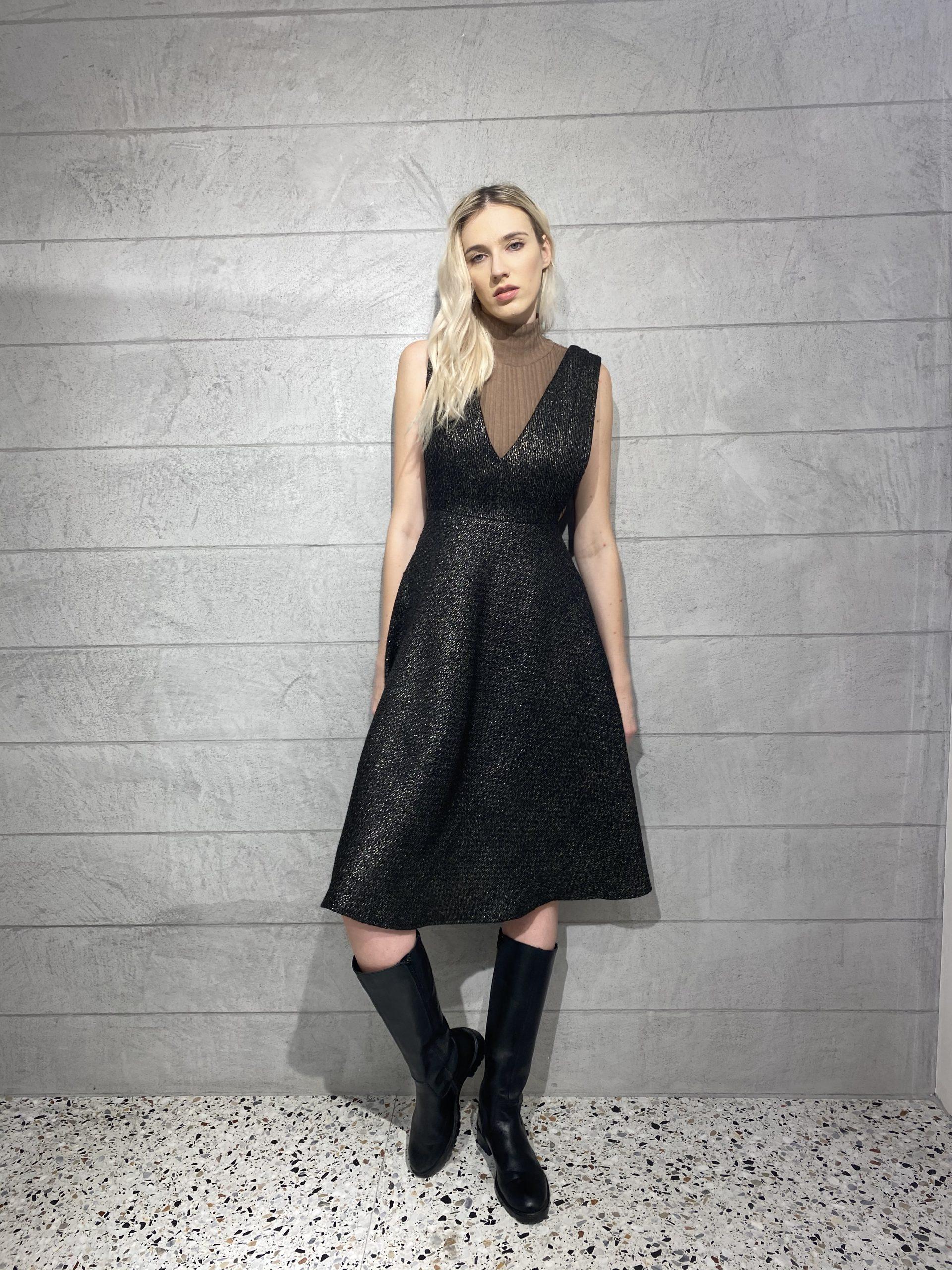 Rochie neagră Malluce