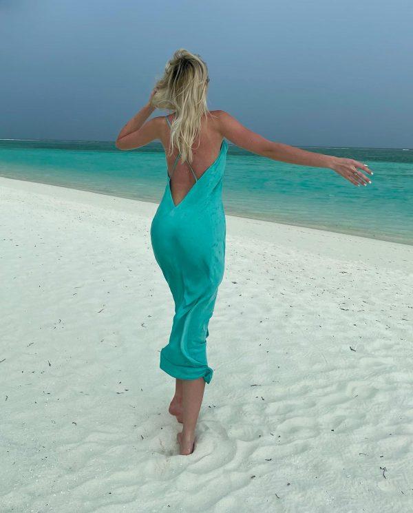 Maldive - Turquoise Dress Malluce