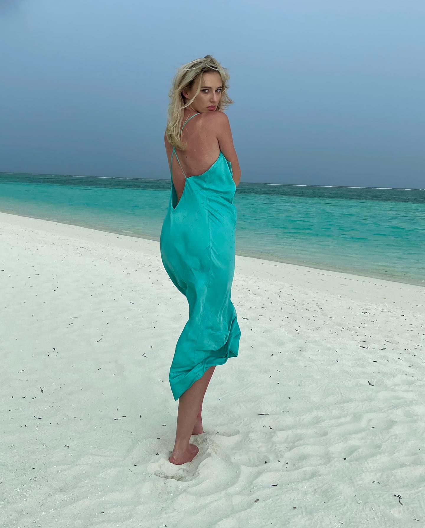Maldive - Turquoise Dress Malluce