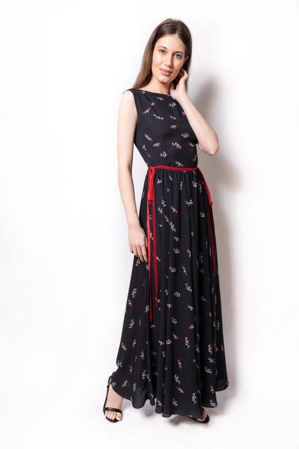 rochie lunga print