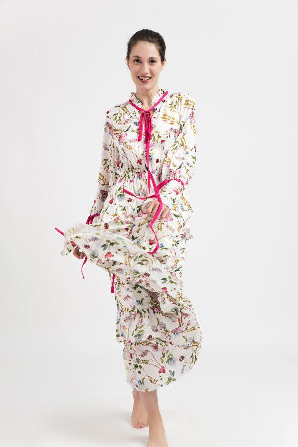 Rochie model floral, rochie midi, rochie dama, rochie vara, rochie print, model floral