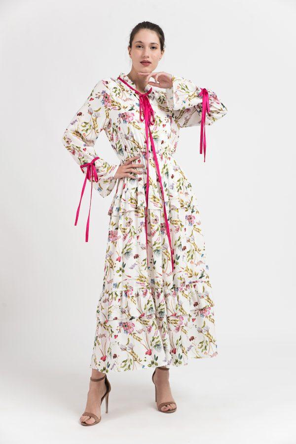 Rochie dama, Rochie bumbac, Rochie model floral, print floral, Malluce