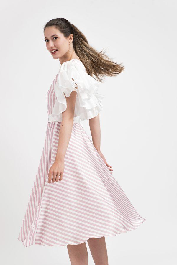 Rochie eveniment Malluce, rochie print Malluce, rochie eveniment