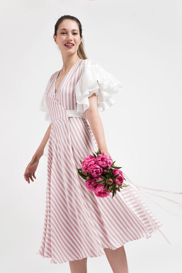 Rochie boho-chic, rochie dama, rochie midi