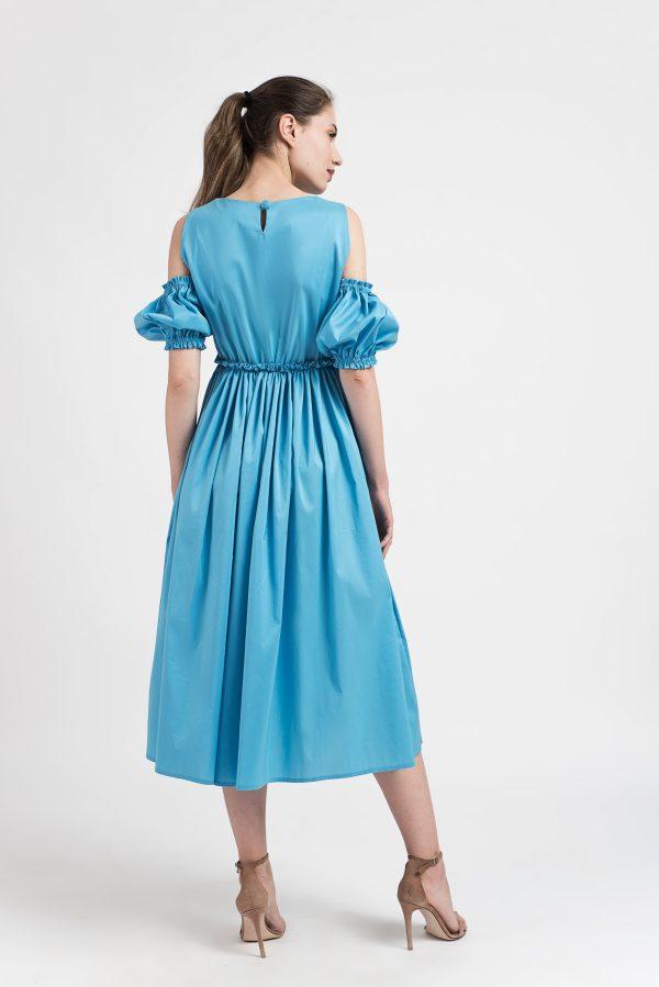 Rochie bumbac, Rochie boho-chic, rochie de zi, made in RO, Malluce